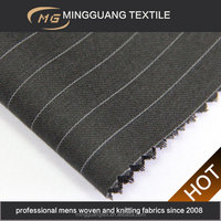 Chinese restaurant uniforms black white stripe twill fabric for designing clothing