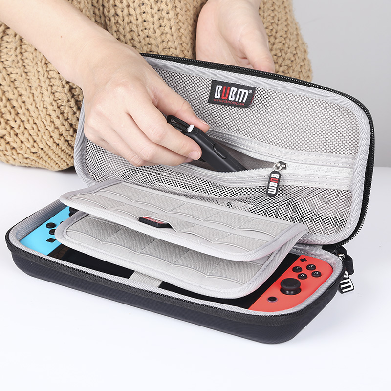 EVA <strong>Hard</strong> Zip Sleeve Cary Carrying <strong>Case</strong> for Nintendo Switch Console Accessories