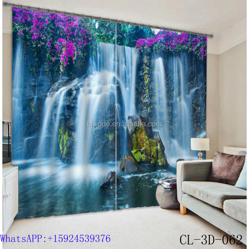 Online shopping 100% polyester window curtain set