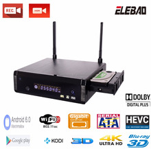 "ELEBAO Realtek rtd1295 motherboard for android smart tv box with kodi usb 3.0 ,USB-C 3.5"" sata hdd media player"