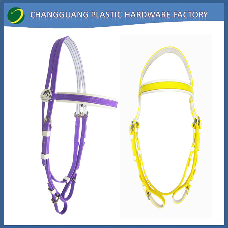 2017 Wholesale Horse Tack PVC Colorful Horse Bridle with Soft Padded