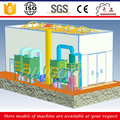 mechanical abrasive recovery sand blast room/container price from qingdao manufacturer