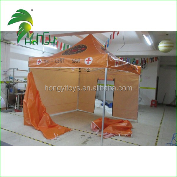 cheap emergence use orange velco folding tent canopy