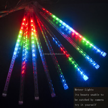 8 Tubes Rain Drop/Icicle Snow Fall String LED Christmas Tree Decoration Cascading Meteor Light Decoration