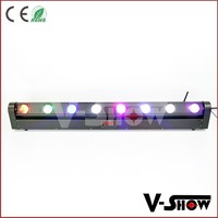 Best sales amount Alibaba 8pcs 8w rgbw strong beam effect moving head led wash stage lighting