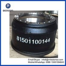 High quality truck parts brake drum 81501100144 for MAN