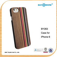 For iphone 6 accessories,Bamboo WOODEN CASE For Iphone6,Mix wood color case for iphone 6 plus