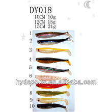 DY017 High quality 10/12/15cm plastic soft sea fishing lure