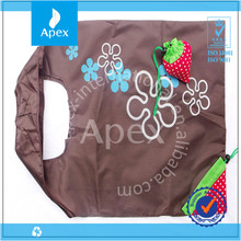 Wholesale export polyester cheap tote folding strawberry bag