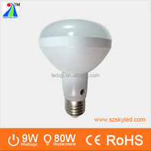 led light bulbs wholesale price warm white 2700k e14 e27 9w r80