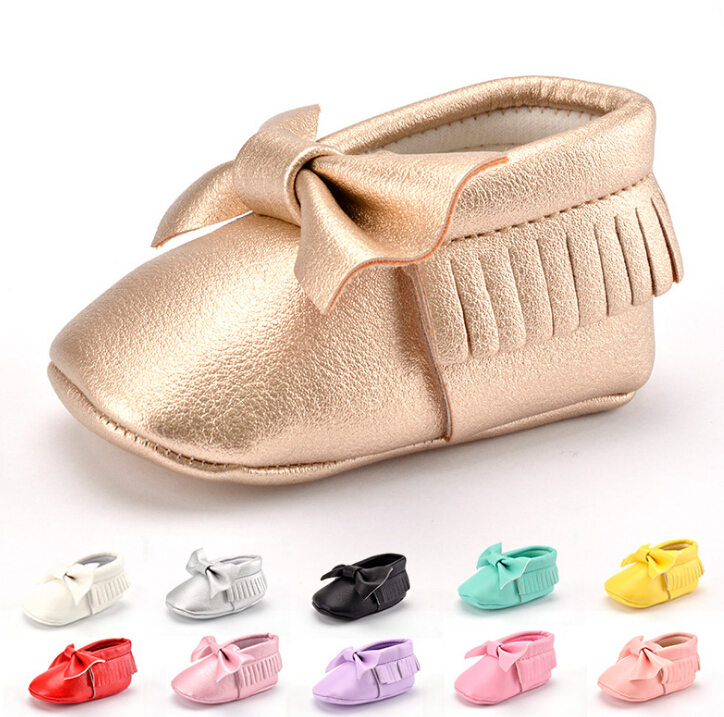 Mix 10 Color Wholesale Cheap Leather Moccasins Baby Girl Shoes