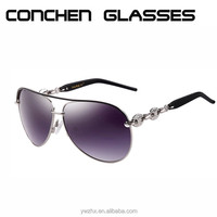Top Quality Metal Sunglasses Designer Brand Sun Shade Glasses