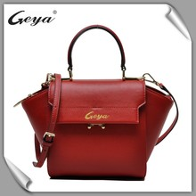 Guangzhou manufacturera flap top handle long strap pu leather shoulder bag for woman