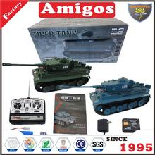 1:18 14 channel RC tank with battery included green/blue funny radio control panzer toy
