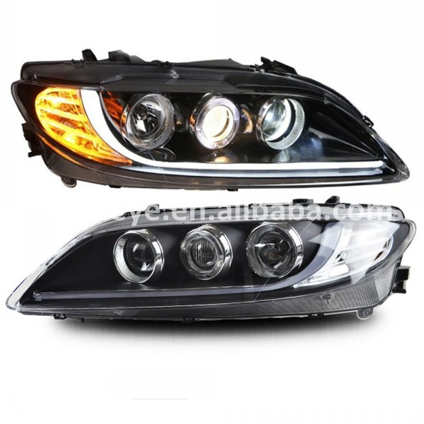 MAZDA 6 LED Strip Head Light M6 angel eye head lamp 2003-2013 year LF