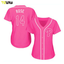 fashion pink baseball jersey custom sublimation