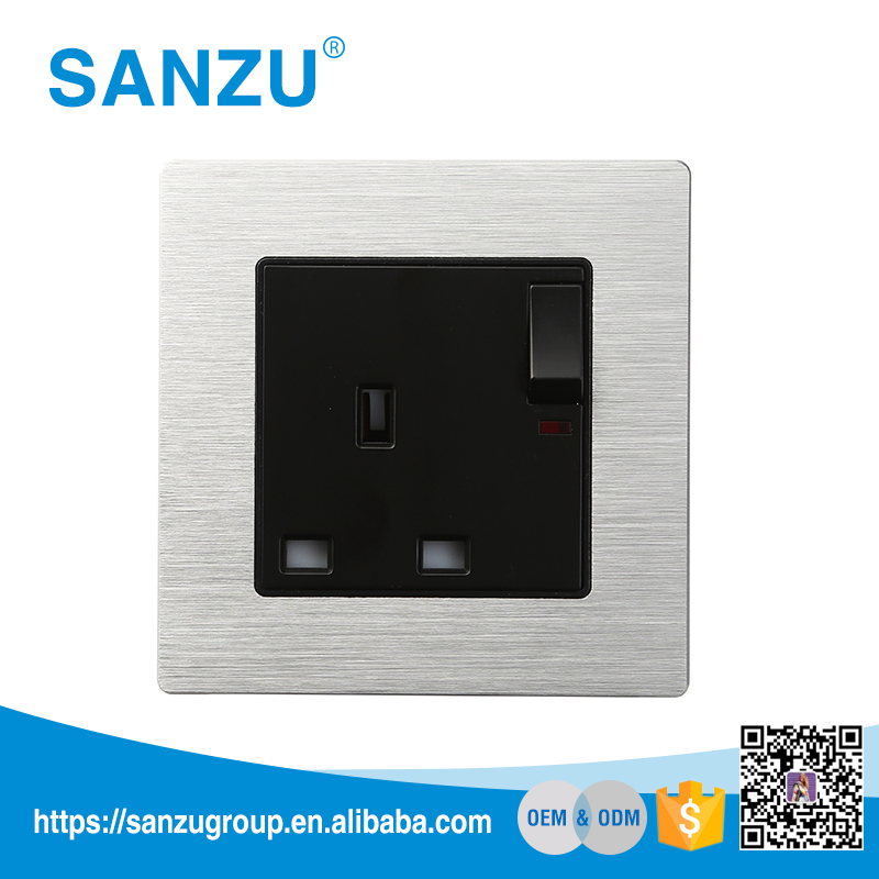 Hot selling electronic socket electric wall switch socket, italian wall switch and socket