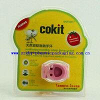 Custom hand ring blister packiagng, mosquito repellent blister