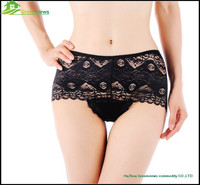Pretty Lace Comfortable Boyshorts Panties With Beautiful Satin lace high quality mature women sexy panties GVFR0007