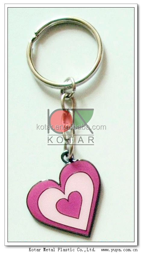 promotion love heart keyring