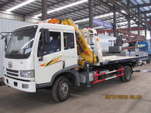 FAW platform recovery truck with 3ton crane