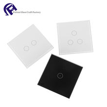 OEM India Z Wave Wifi Light Smart Touch Screen Switch Crystal Cover Glass Panel For Switch