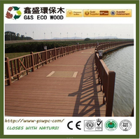 Anti-uv wood plastic co,posite decking low price wpc floor eco-friendly wpc deck