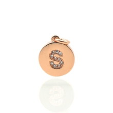 Fashion jewelry wholesale rose gold round s shape brass jewelry beads and findings