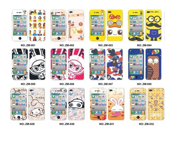 Full body Front +Back Cartoon Cell Phone Screen Protector for iPhone 5S