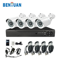 4ch waterproof 720P camera H.264 High profile HD AHD CCTV system DVR kit