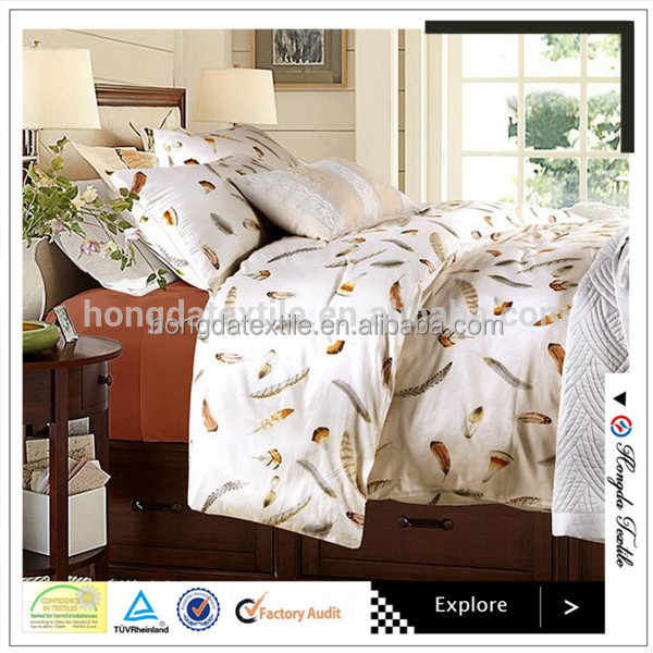 100% Egyptian cotton printed bedding sets/reactive printing bedsheets