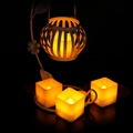 Hot Sale Battery Operate Led Tea Light Flameless Tea Light With Yellow Flickering Set Of 12