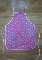 children kitchen apron&painting apron with customized logo cotton fabric new design little star