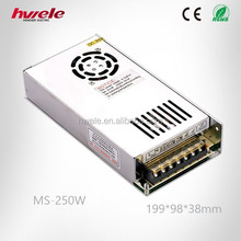 MS-250W AC DC MINI switching power supply for LED strip light/CCTV Camera/Alarm with SGS,CE,ROHS,TUV,KC,CCC certification