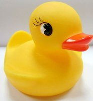 2014 children soft rubber duck shaped rubber duck