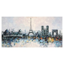 MYT Wholesale Modern Flower Palette Knife Oil Painting Wall Art On Canvas