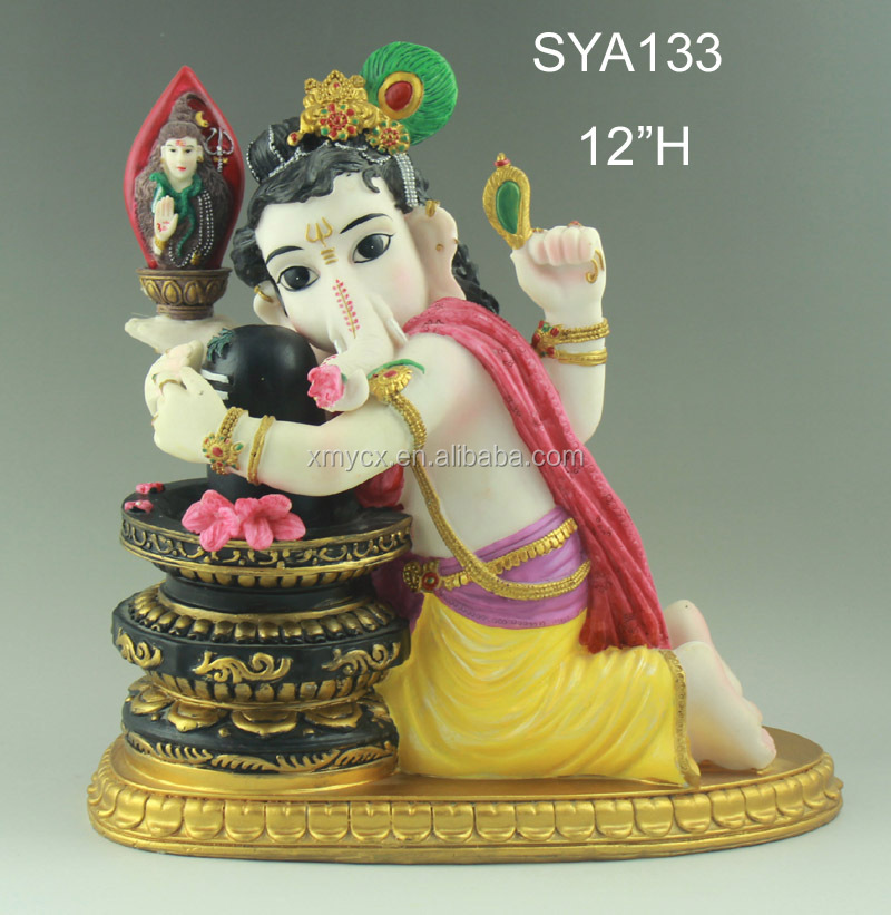 Polyresin Indian God ganesh god design ganesh handicraft home decor