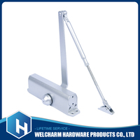 Hydraulic automatic sliding door closer