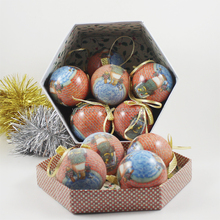 full color printed full color printed christmas foam ball ,hanging tree ball