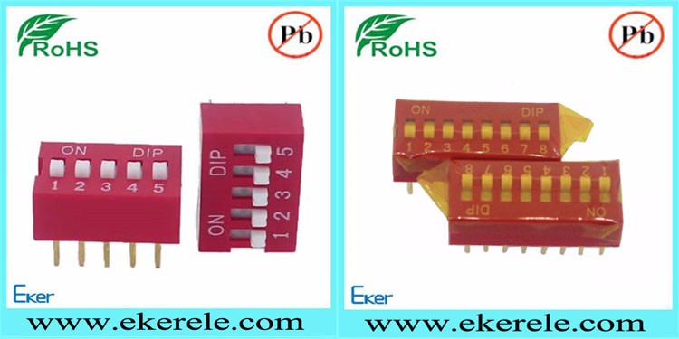 2.54mm Pitch Double Row Slide 3 Position DIP Switch