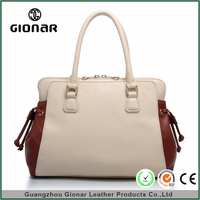 China supplier authentic designer leather handbags fashion tote pu hand bag
