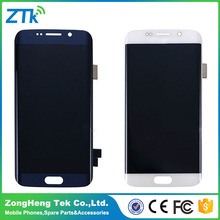 Hot selling mobile phone parts for samsung s6 edge/for samsung galaxy s6 edge with frame lcd digitizer tested one by one