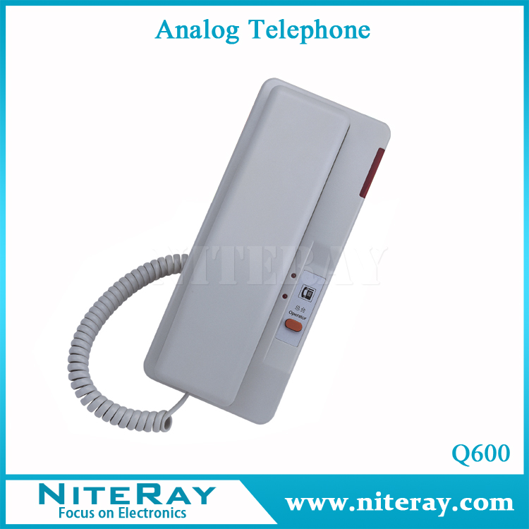 Wall mount corded telephone programmable telephones