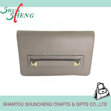 fahsion cool grey elegent woman PU leather handbag
