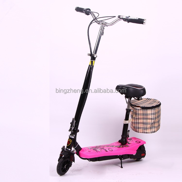 cheap and eco-friendly electric scooter for urban with seat and bag