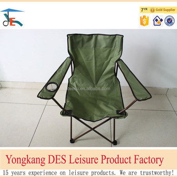 Factory price outdoor folding camping chair alumium frame with cup holder