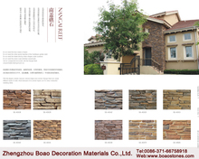Exterior cheap stone veneer thin face brick cultured stone wall cladding