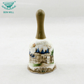 Wholesale best quality ceramic hand painted dinner ring bell table