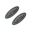 Custom shape transparent rubber label patch, rubber badge