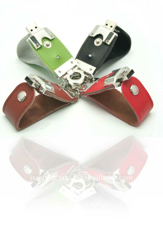 Leather USB Pen Drive with All kinds of Customzised Logo